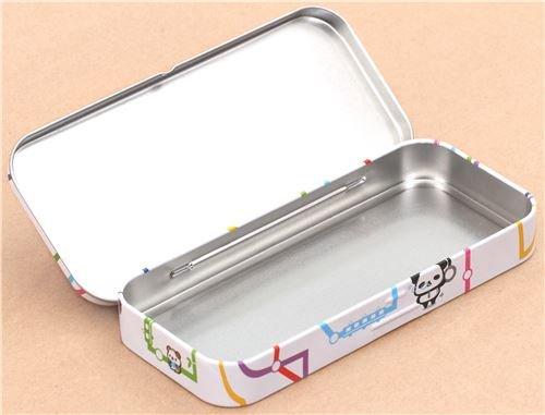 Amazon.com : cute funny Ojipan train map pencil case tin ...