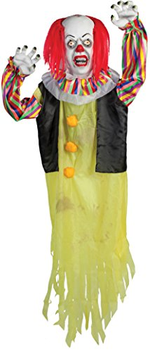Morbid Enterprises It Pennywise Large Hanging Prop, White/Red/Blue/Yellow/Black, One Size]()