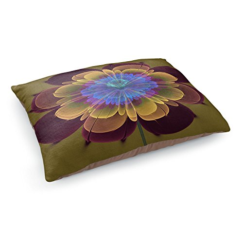 - Dia Noche Dog Pet Beds by Pam Amos - Ghost Flower Red Olive
