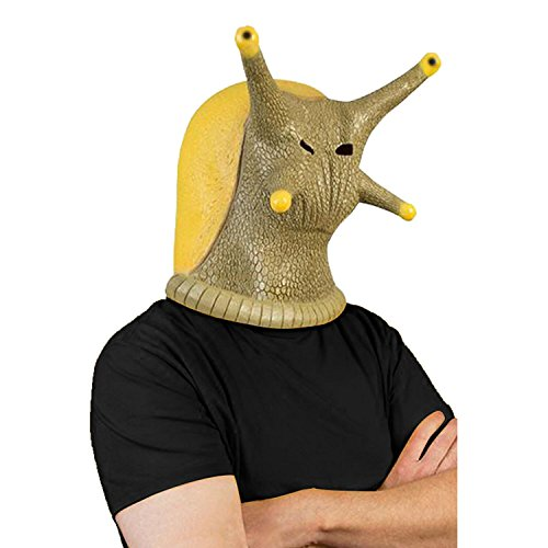 Novelty Halloween Costume Party Latex Head Mask Snail Full Face -
