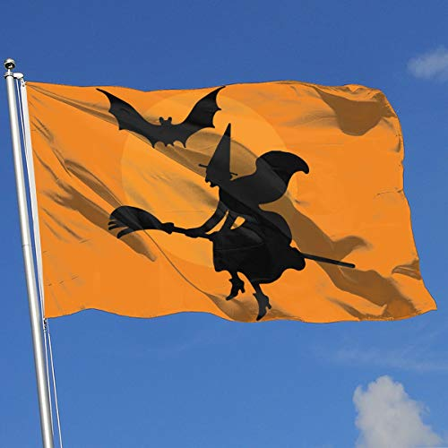 Halloween Witch Broomstick Clipart Banner Flag Family Flag Outdoor Garden Flag 3'X5' House Banner