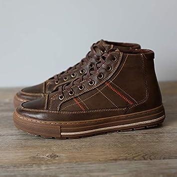 Shukun Botas de hombre Zapatos Gruesos y Gruesos de Nieve ...