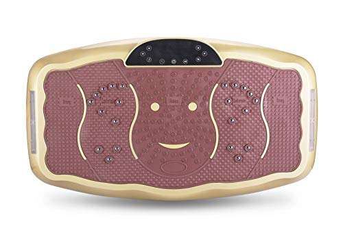 TODO Vibration Platform Power Plate Wholebody Vibrating Massager- Remote Control/Bluetooth Music/USB Connection(Gold-Smile) by TODO (Image #1)