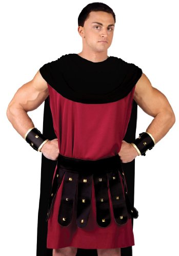 Fun World Men's Spartacus Costume Red/Black One Size -