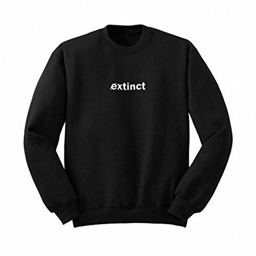 (Extinct Sweatshirt 90s Internet Explorer Vaporwave Tumblr Inspired Sweatshirts Pale Pastel Grunge Aesthetic Black Grid BLACK)
