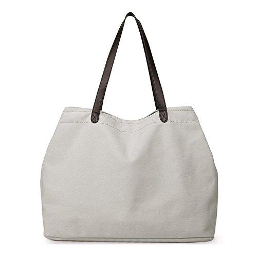 Aoligei Grande capacité rétro toile casual femme sac sac à bandoulière simple banlieue femmes sac version coréenne sac en tissu E