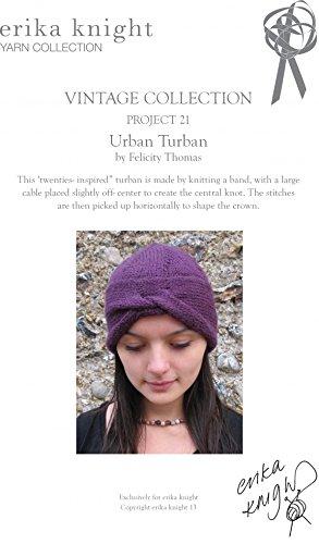 Erika Knight Vintage Wool Knitting Pattern Urban Turban Aran