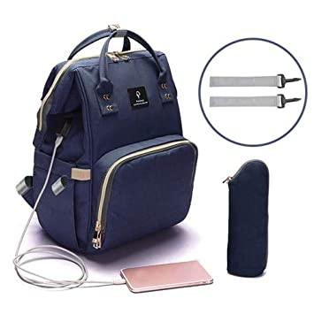 Maternity Waterproof Diaper Bag Mummy Baby Nappy Travel Backpack USB Charging