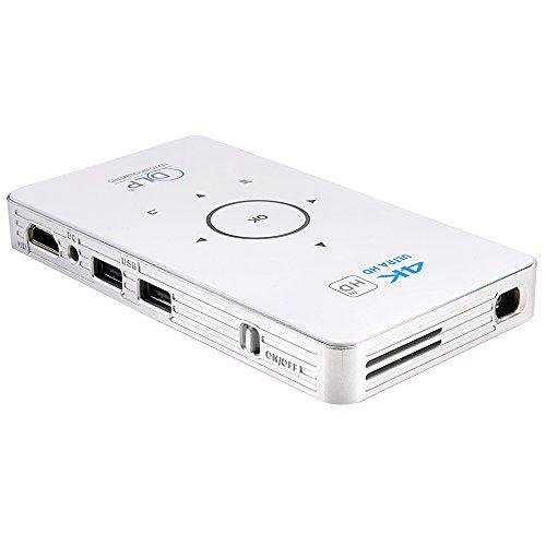 YZMZTA C6 Mini Smart Projector, DLP Support Full HD 1080P, H