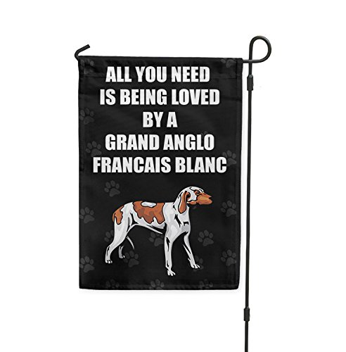 All you need love GRAND ANGLO FRANCAIS BLANC ET ORANGE Yard