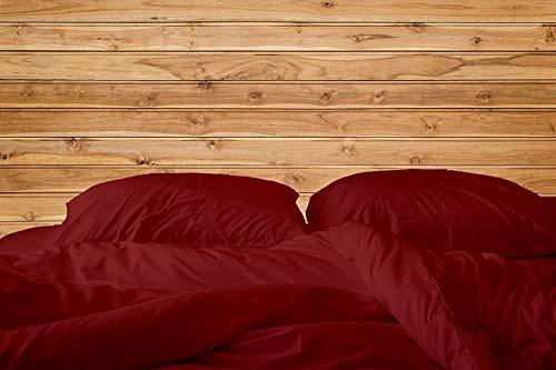 "Americano Casa Super Soft Long Staple Egyptian cotton 4 PC Bedding sheet set 500 TC, Italian finish Bed sheet 500 fits upto 15"" deep pocket mattress Made In USA Cal-King, Burgundy (Italian Bed)"