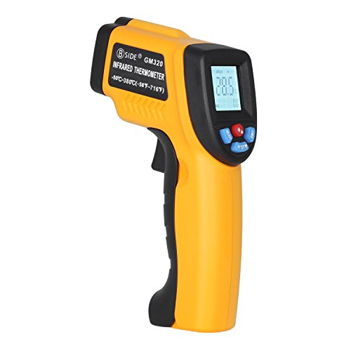 BSIDE GM320 Non-contact Digital Laser Infrared Thermometer Temperature Gun -58℉-716℉ (-50℃-380℃) for Cooking BBQ Kitchen Automotive and Industrial by BSIDE