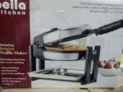 Bella Kitchen Rotating Belgian Waffle Maker