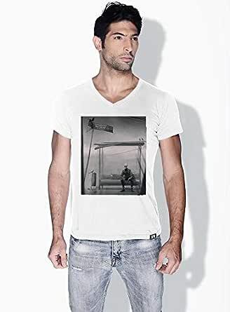 Creo Bus Station Skulls T-Shirts For Men - L, White