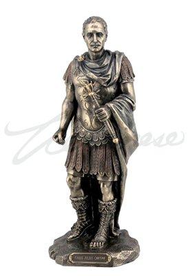 (Gaius Julius Caesar in Roman Military Uniform Statue Bronze)