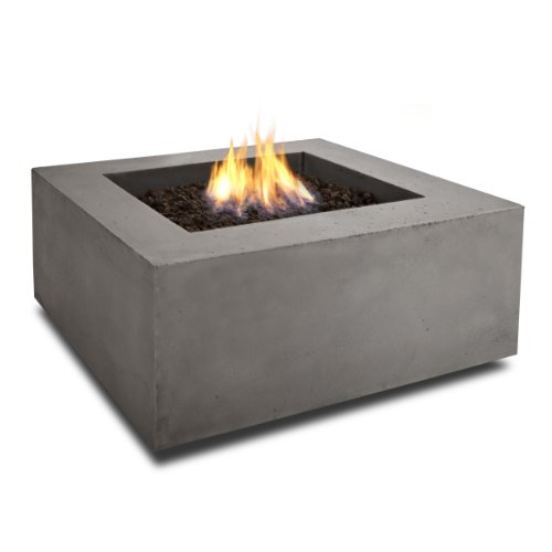Real Flame T9620LP Baltic Square Propane Fire Table, Glacier Gray by Real Flame