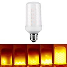 LED Flame Bulb, Multi-function (Live Flame Emulation/Breathing/General Lighting Mode), New Advanced Edition Fire Effect LED Lamp by LAKES True Fire Color