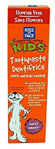 Kiss My Face Kids Fluoride Free Toothpaste, Berry Smart Tubes, 4 oz., Pack of 6