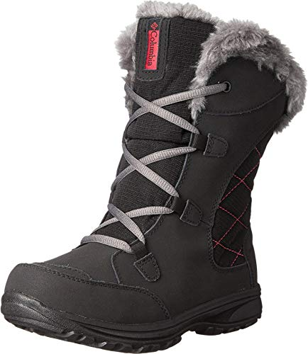 Columbia Youth Ice Maiden Lace Winter Boot , Black, 2 M US Little Kid (Size 2 Boots Winter Boys)