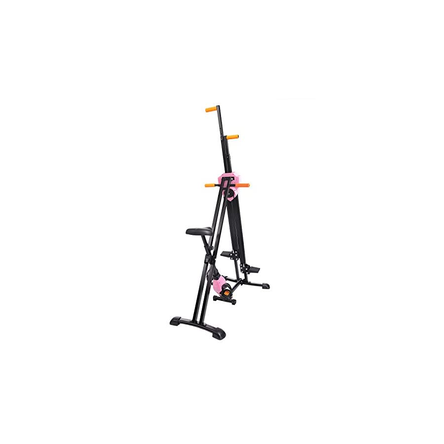 Jway Vertical Climber with Exercise Bike, 2 in 1 Folding Climbing Machine for Home Gym Total Body Workout