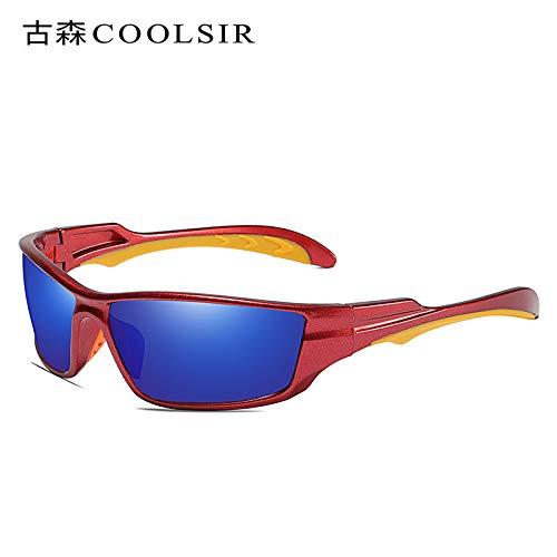 Gafas sunglasses de Deportivas nbsp;conducción de Mjia 1 de nbsp;Gafas Gafas de frame nbsp;UV nbsp;polarizadas roja Caja nbsp;Sol nbsp;conducción nbsp;Gafas nbsp; nbsp;Espejo Hombre Red Sol de IUdqd