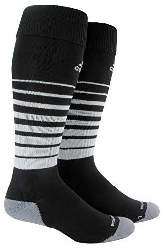 adidas Unisex Team Speed Soccer OTC Sock (1-Pair), Black/White, 9-13
