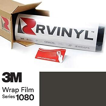 3M 1080 M12 Matte Black 5ft x 1ft W/Application Card Vinyl Vehicle Car Wrap Film Sheet Roll