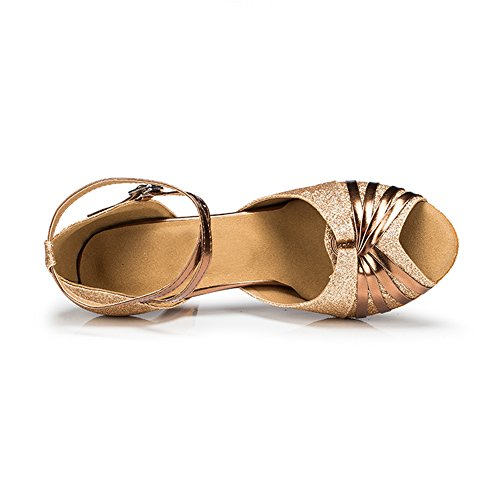 Misu Womens Gluren Teen Sandalen Latijnse Salsa Tango Oefenen Ballroom Dansschoenen Met 2.7 Hak