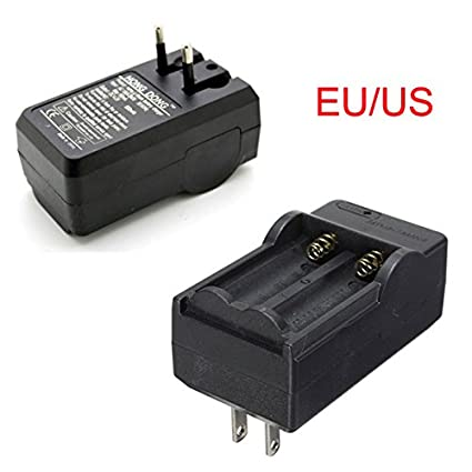 Amazon.com: Cargador - EU/US recargable 3.7V 18650 Dual Li ...
