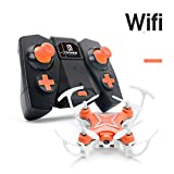 Gotd FY-601W Drone 2.4G 4CH 6-Axis Mini RC Gyro Quadcopter With WIFI Camera FPV,Orange