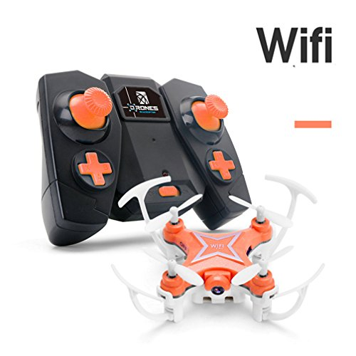 Gotd FY-601W Drone 2.4G 4CH 6-Axis Mini RC Gyro Quadcopter With WIFI Camera FPV,Orange