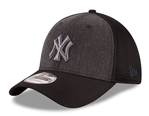kees MLB 39THIRTY Heathered Black Neo Flex Fit Hat ()