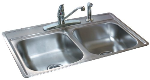 Franke Kindred FDS654N 33X22X6.5 DBLBWSS Sink by Franke Kindred