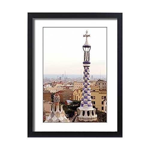 Media Storehouse Framed 24x18 Print of Park Guell in Barcelona (Spain), designed by Antoni Gaudi (13424377) by Media Storehouse