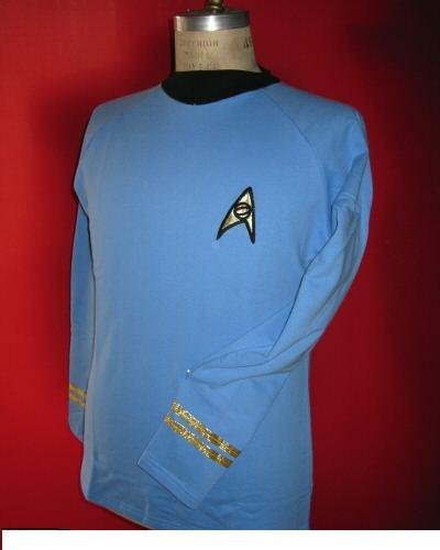 Star Trek Tos Classic Spock Costume Blue -Super Deluxe- Cotton - Xx-large by Filmwelt Berlin
