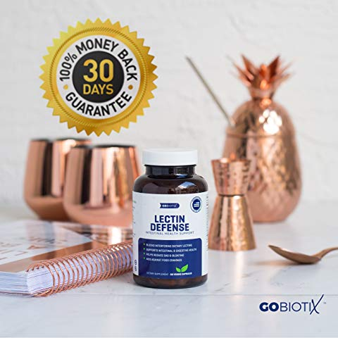 Lectin Defense - Blocks Interfering Dietary Lectins, Supports Intestinal & Digestive Health, Helps Reduce Gas & Bloating, Aids Against Food Cravings - Non-GMO, Gluten Free - 60 Vegan Capsules