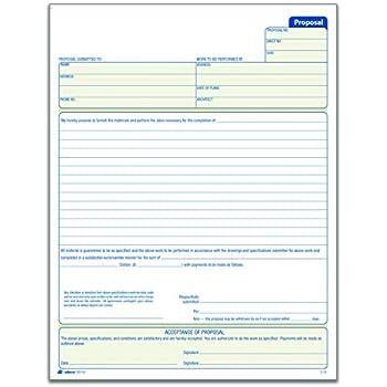 Amazoncom Adams Contractors Invoice Book X Inch - Contractor invoice book