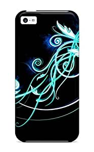 ZippyDoritEduard Case Cover For Iphone 5c - Retailer Packaging Nice Turquoise Abstract Protective Case