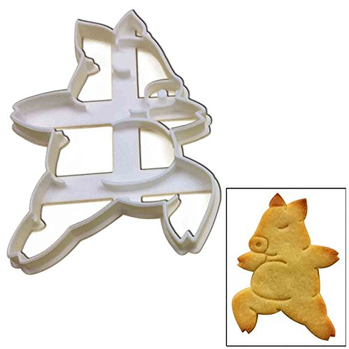 Yoga Pig Warrior Pose 2 cookie cutter, 1 pc, Ideal for yoga classes, teachers and instructors