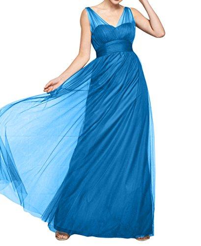 Blau A mia Sommer Ballkleider Cocktailkleider Brau Lang Damen Abendkleider Breit Traeger Linie Partykleider Rock Tuell La HFqZPq