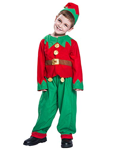 Quesera Kid's Elf Costume Children Halloween Christmas Outfit for Boys and Girls