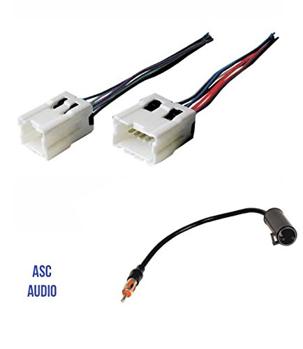 ASC Audio Car Stereo Radio Wire Harness and Antenna Adapter to Aftermarket Radio for some Infiniti Nissan etc.- Vehicles listed below ()