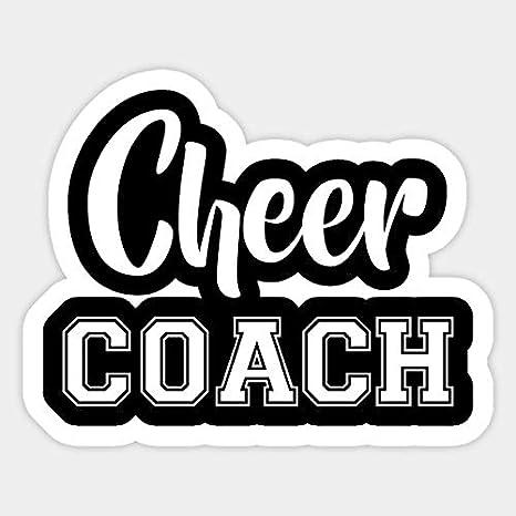 Cheer Coach Vinyl Decal Coach gift Cheer Decals Coaching Decals Sports Decals Cheerleading Decal |Tumbler Sticker