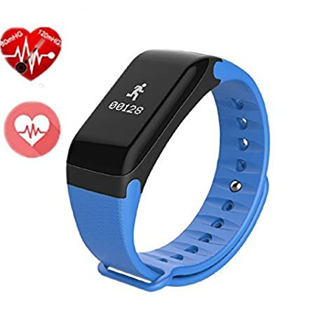 Amazon.com: F1 Smart Bracelet Watch Heart Rate Monitor Smart Band Wireless Fitness Smart Wctch Blood Pressure Watch for Android IOS Phone (Blue): Cell ...