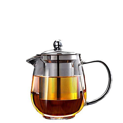 Glass Tea Set Elegant Cup Teapot High Temperature Thickening Teapot Stainless Steel Filter Leak Office Tea Ceremony Pot Household Kettle Tea Pots (Capacity : B)