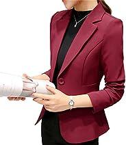 Elonglin Women's Long Sleeve Blazer Suit Jacket Lapel Collar Slim Casual Of