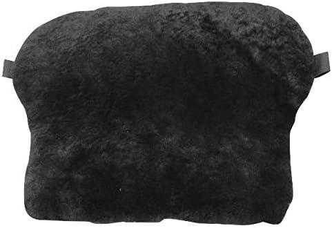 Sheepskin Gel Seat Pad Black in Medium