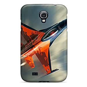 New UmZ771Ybca F 15 Combat Military Aircraft Skin Case Cover Shatterproof Case For Galaxy S4