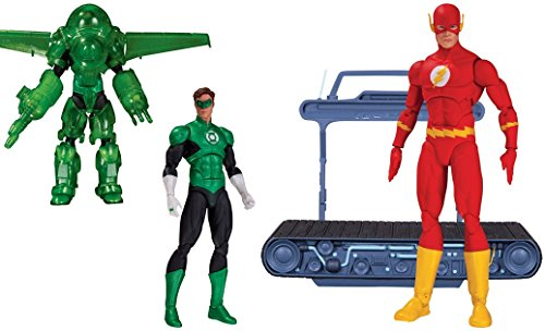 [Super Hero Green Lantern Hal Jordan Dark Days Deluxe Vs Icons: The Flash Chain Lightning Action] (Hawkeye Avengers Deluxe Adult Costumes)