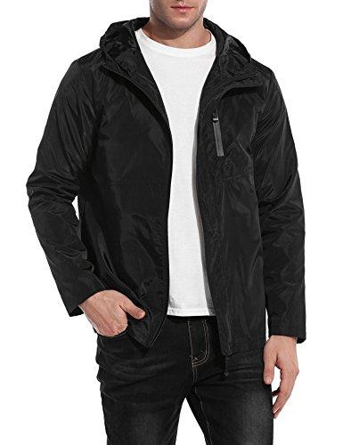 Coofandy Men Lightweight Raincoat Outdoor Waterproof Jacket Windbreaker Pullover